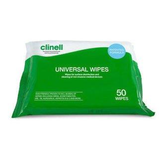Clinell Clinell Desinfektionsservietter 50stk CW50