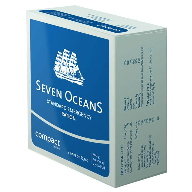 Seven Oceans Emergency Food Nødration 72 timer