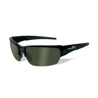 Wiley X Saint Solbriller - Polarized Green - Gloss Black